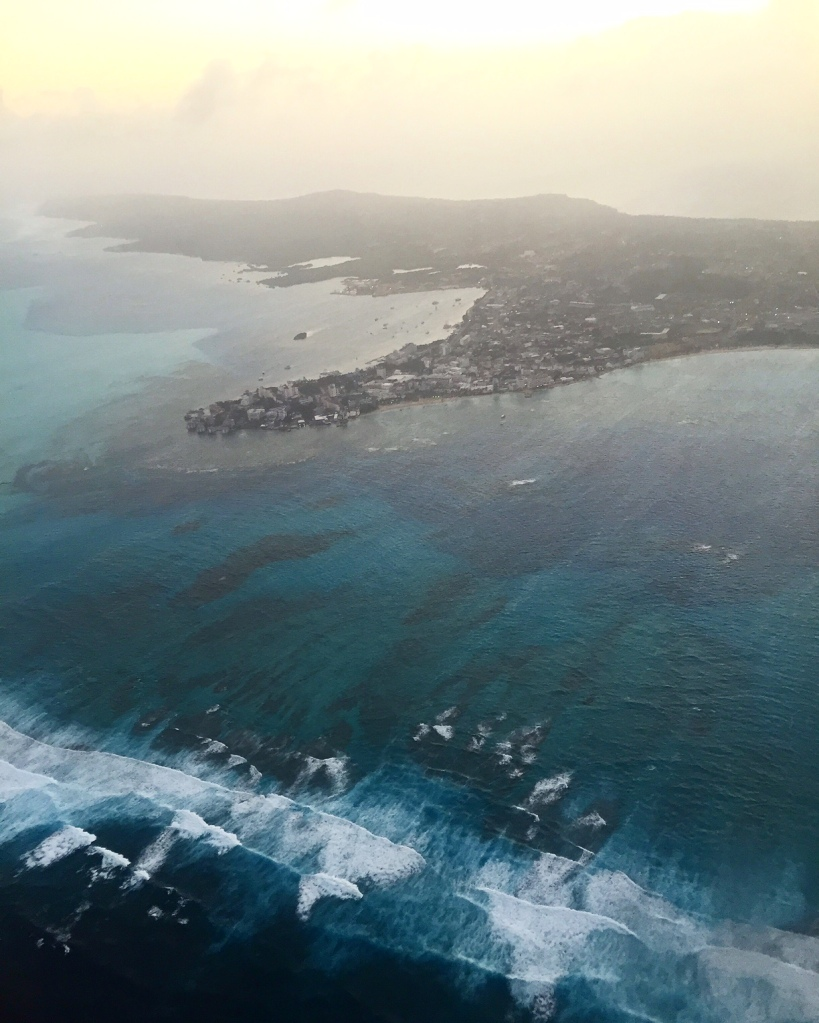 airplane view san andres
