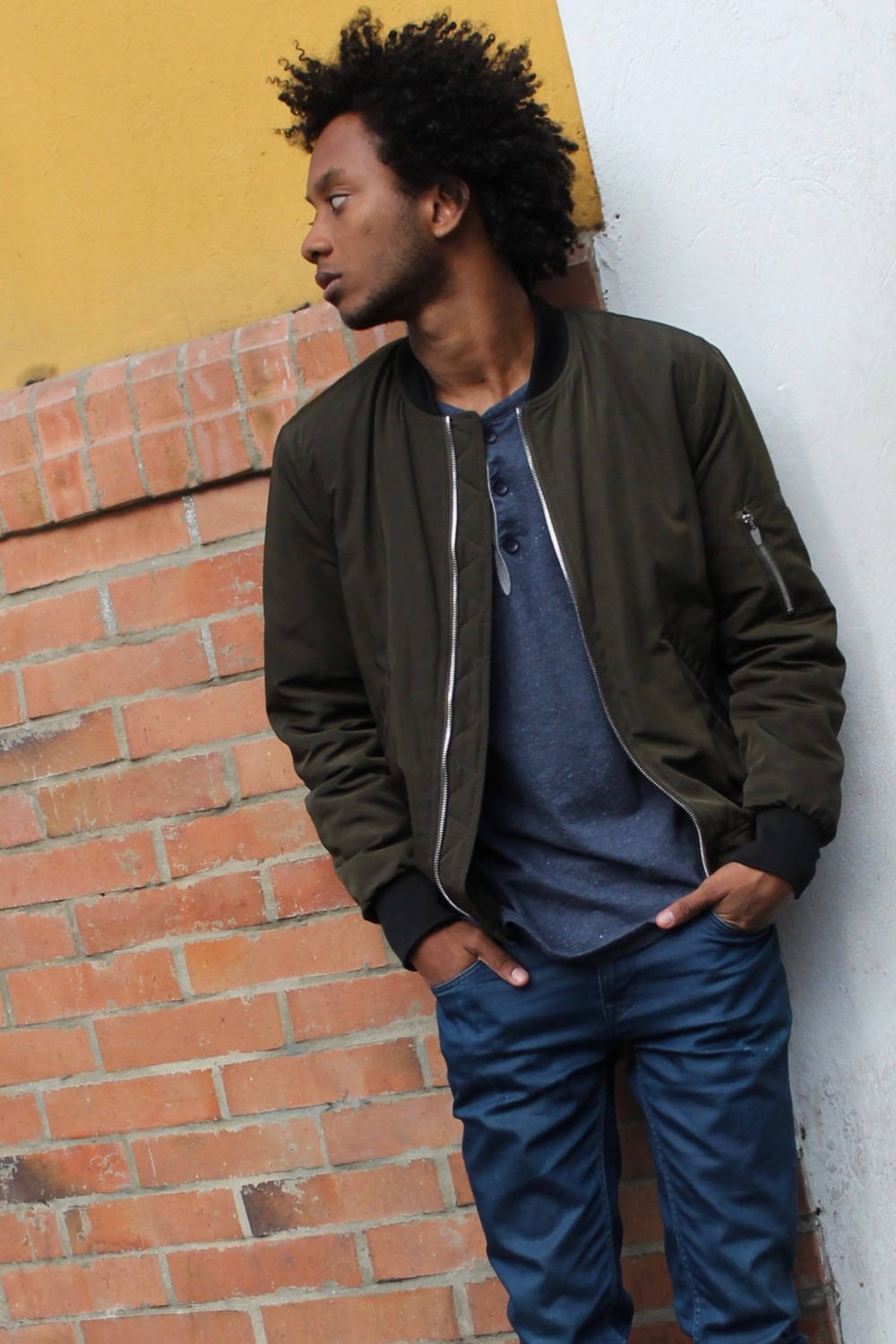 afro fall season bomber jacket