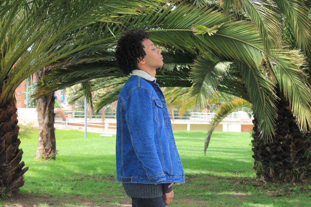 palms pull and bear shearling jacket