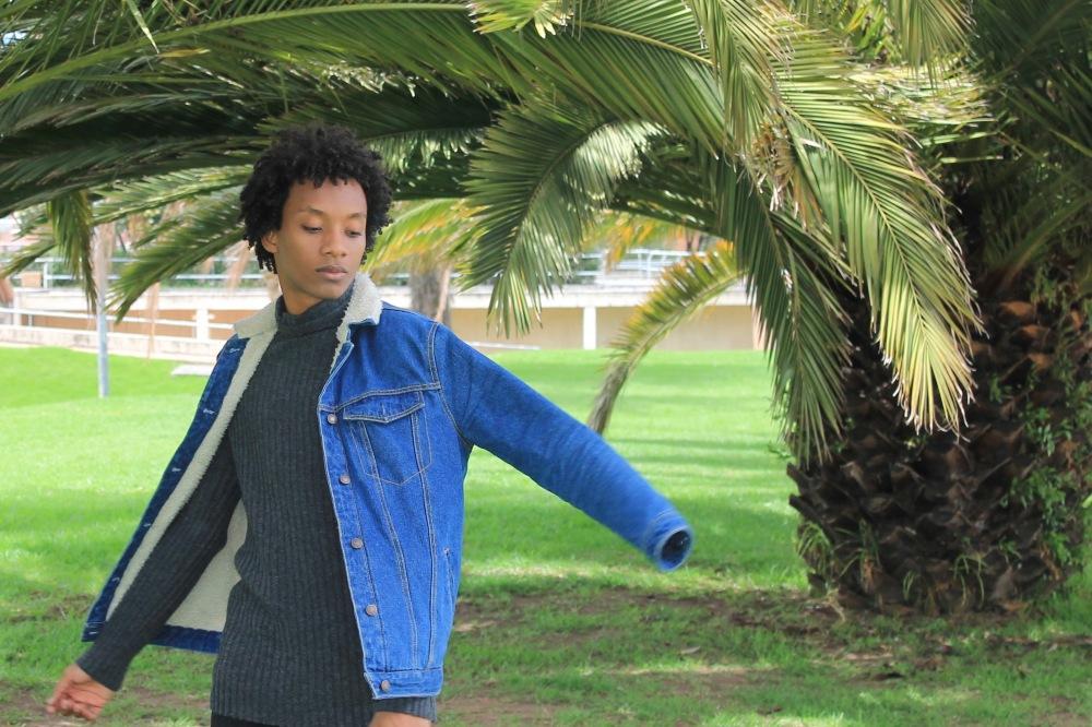 turtleneck shearling jacket movement