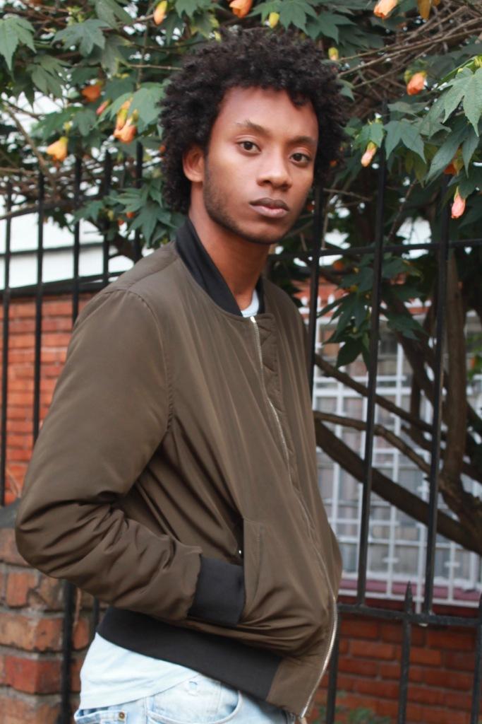 bomber jacket blogger bogota yellow light