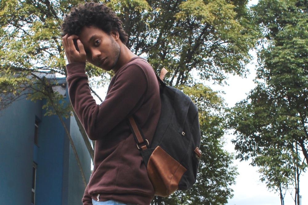 tennis backpack x pullandbear jumper