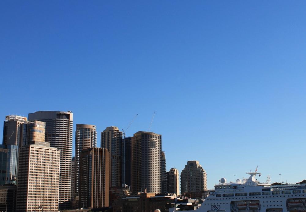 sydney skyline cruise blue sky