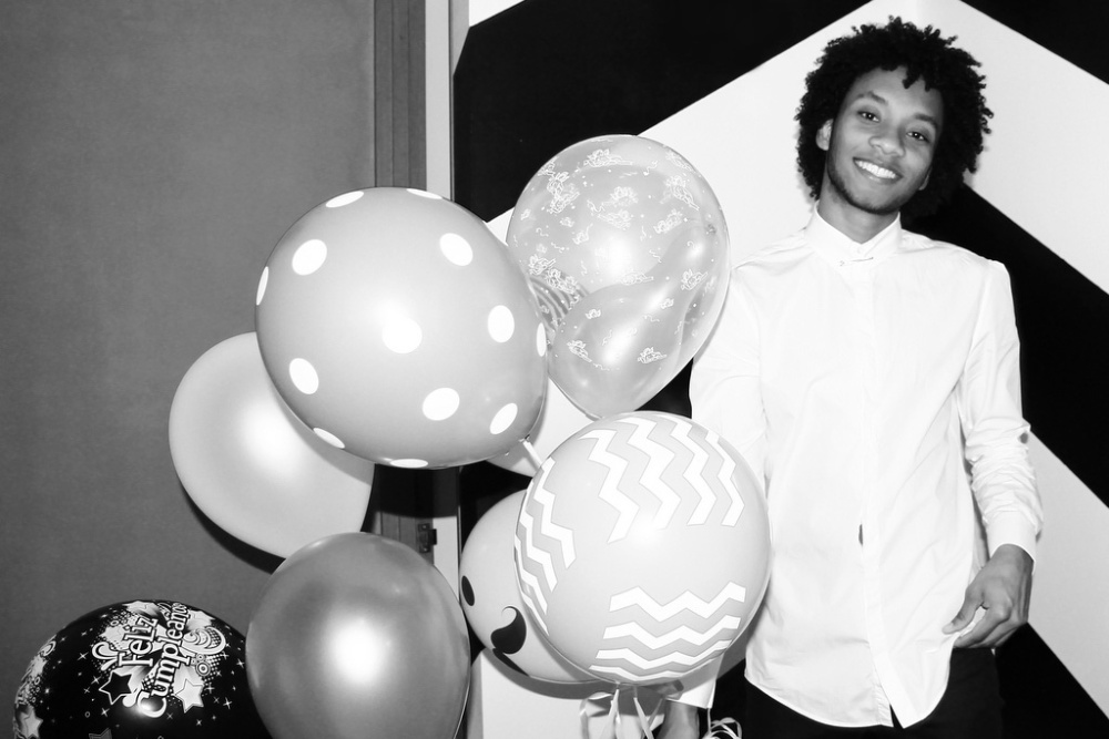 helium balloons party birthday love wall interior juan gomez