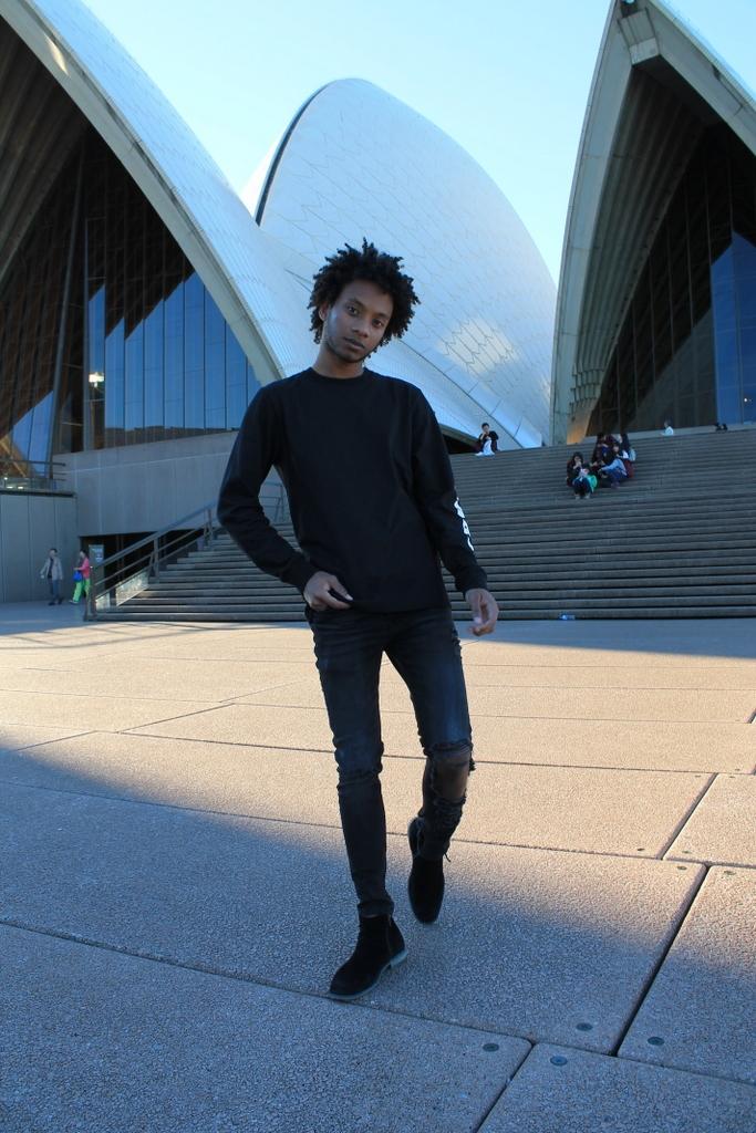 sydney opera house menswear fashino blogger travel australia asos bosi carhartt