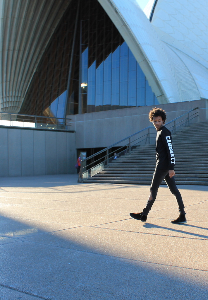 walking sydney opera house australia traveler holidays love